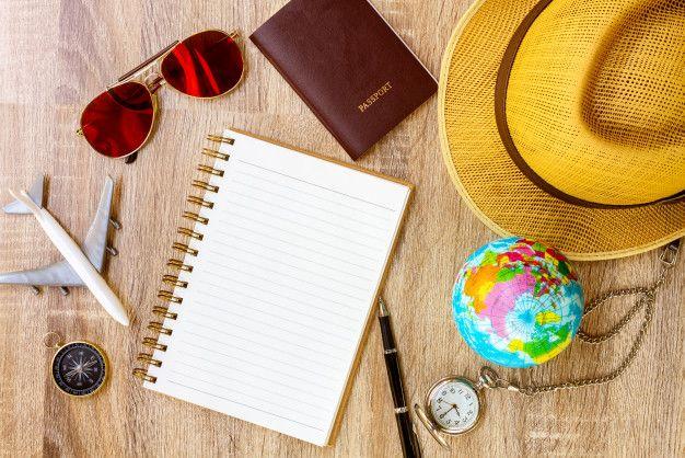 Plan de viaje viaje de vacaciones maqu  Premium Photo