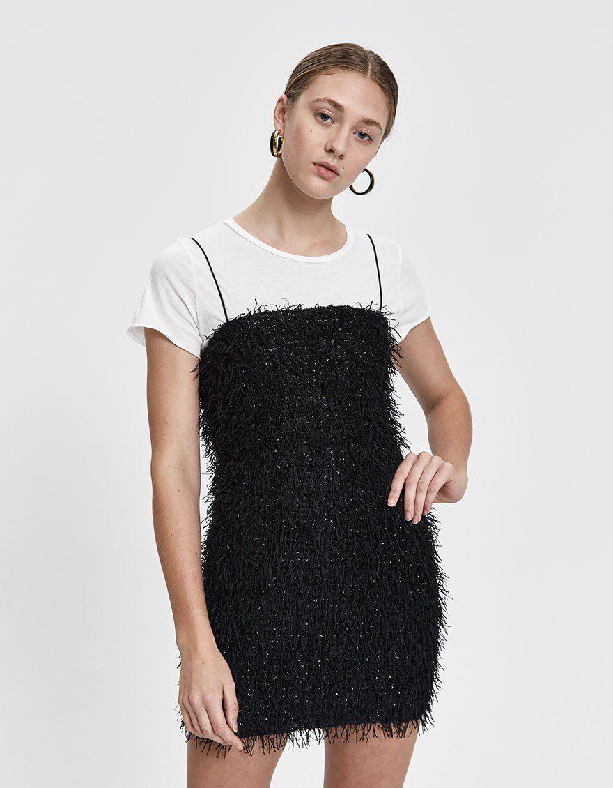 aa0f03df1ad1 Dara Metallic Fringe Mini Dress #dresses #party #dress #fringe #trend  #shopping
