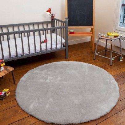 runder teppich hellgrau hellgrau pilepoil - Teppich Babyzimmer Beige