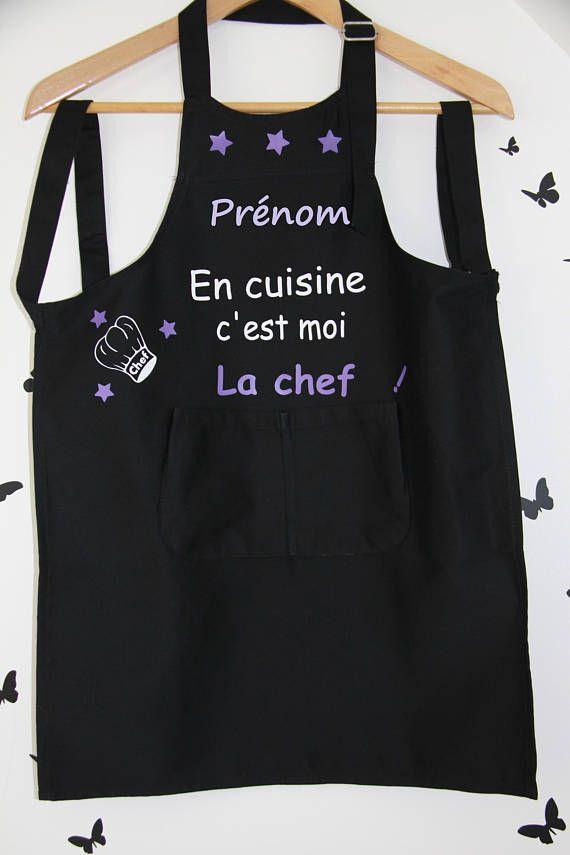 Personalized kids apron with name tablier de cuisine pinterest tablier cuisine tablier - Tablier de cuisine personnalisable ...