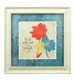 Silk Screen Flora   Joy Of The Lord   Walk By Faith Collection #homedecor