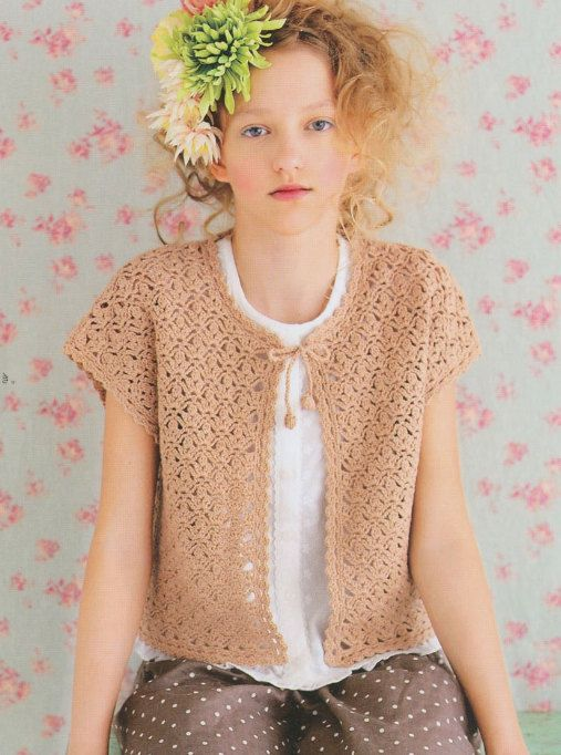Japanese Crochet Lace Summer Cardigan For Summer by DotsStripes ...