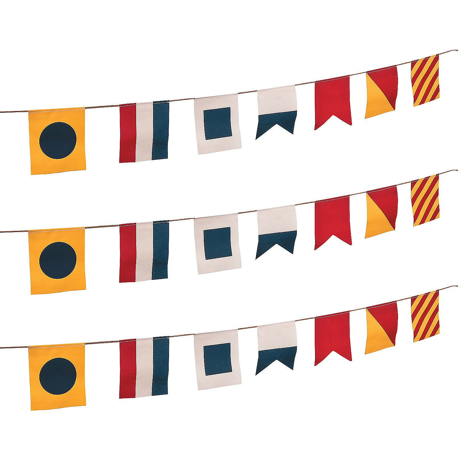 Nautical Flags Canvas Pennant Banner | Pennant banners ...