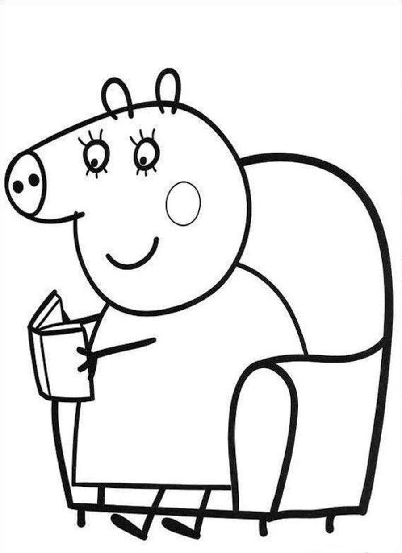 dibujo de peppa pig colorear | minions | Pinterest