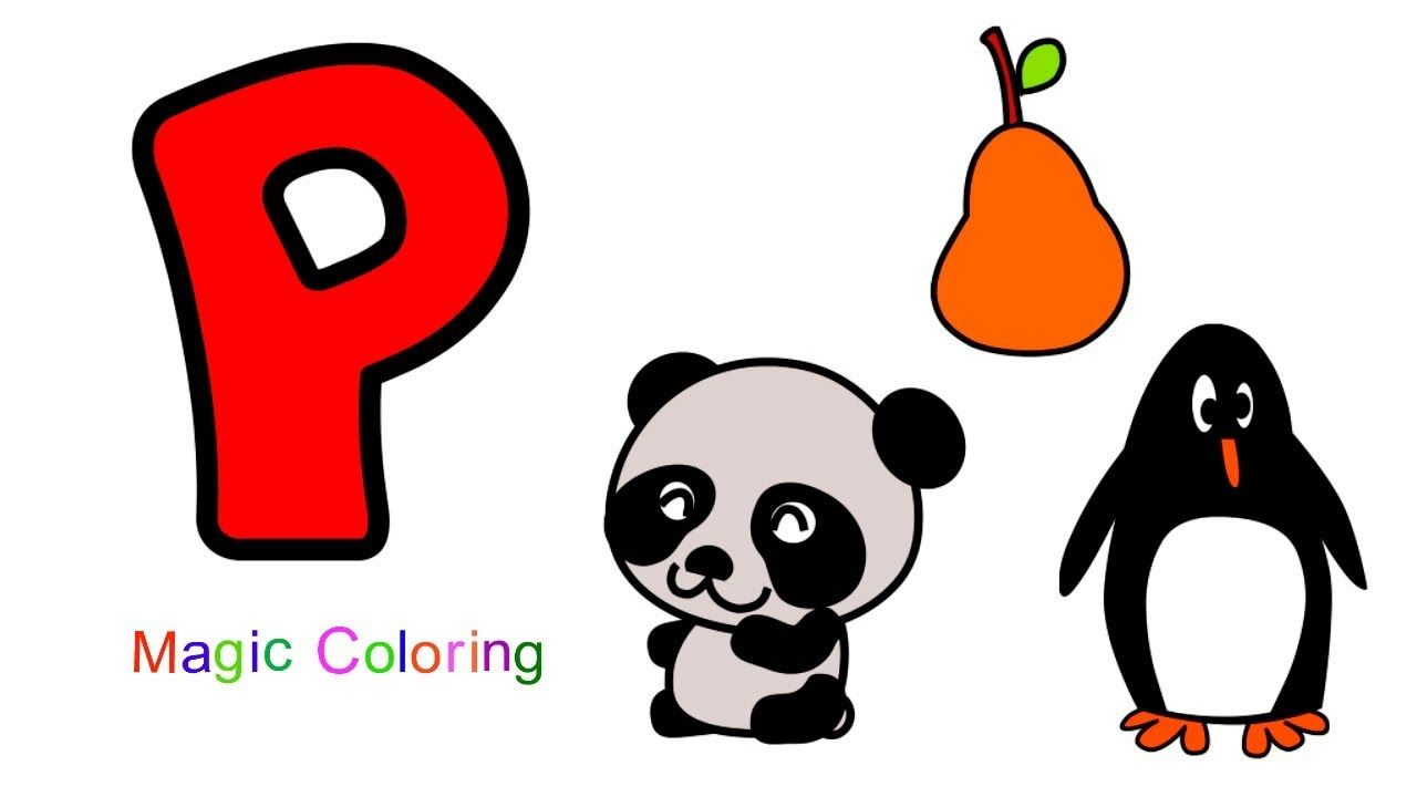 Letter P Let S Learn The Alphabets For Kids Preschool Abc Draw And Co Alphabet For Kids Learning The Alphabet Preschool Letters