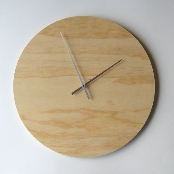 Objectify Plywood Wall Clock - Extra Large | Plywood walls, Plywood ...