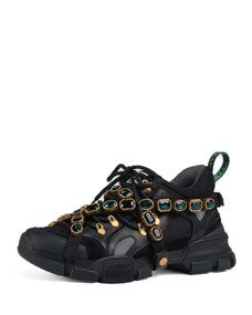 d5afa2ace79 Shop Sneaker with Removable Crystals from Gucci at Bergdorf Goodman