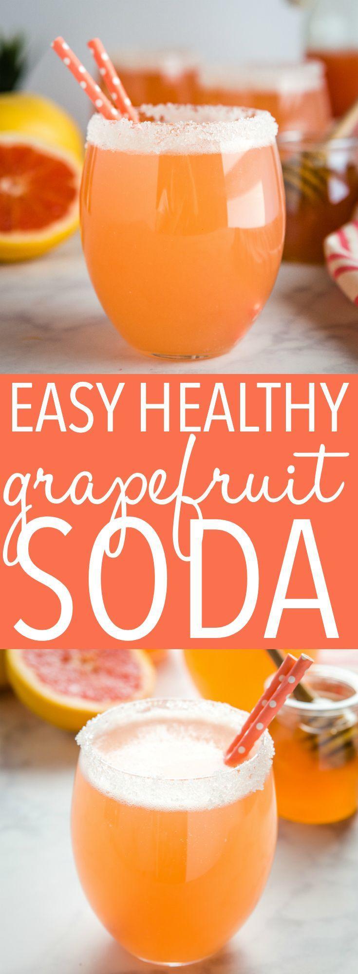 Easy Healthy Grapefruit Soda #nonalcoholicsummerdrinks