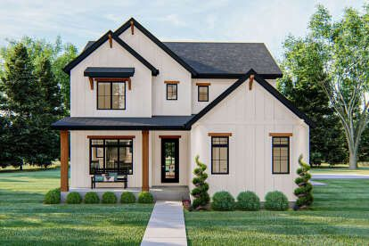 Modern Farmhouse Plan: 2,258 Square Feet, 3-4 Bedrooms, 2.5 Bathrooms - 009-00278