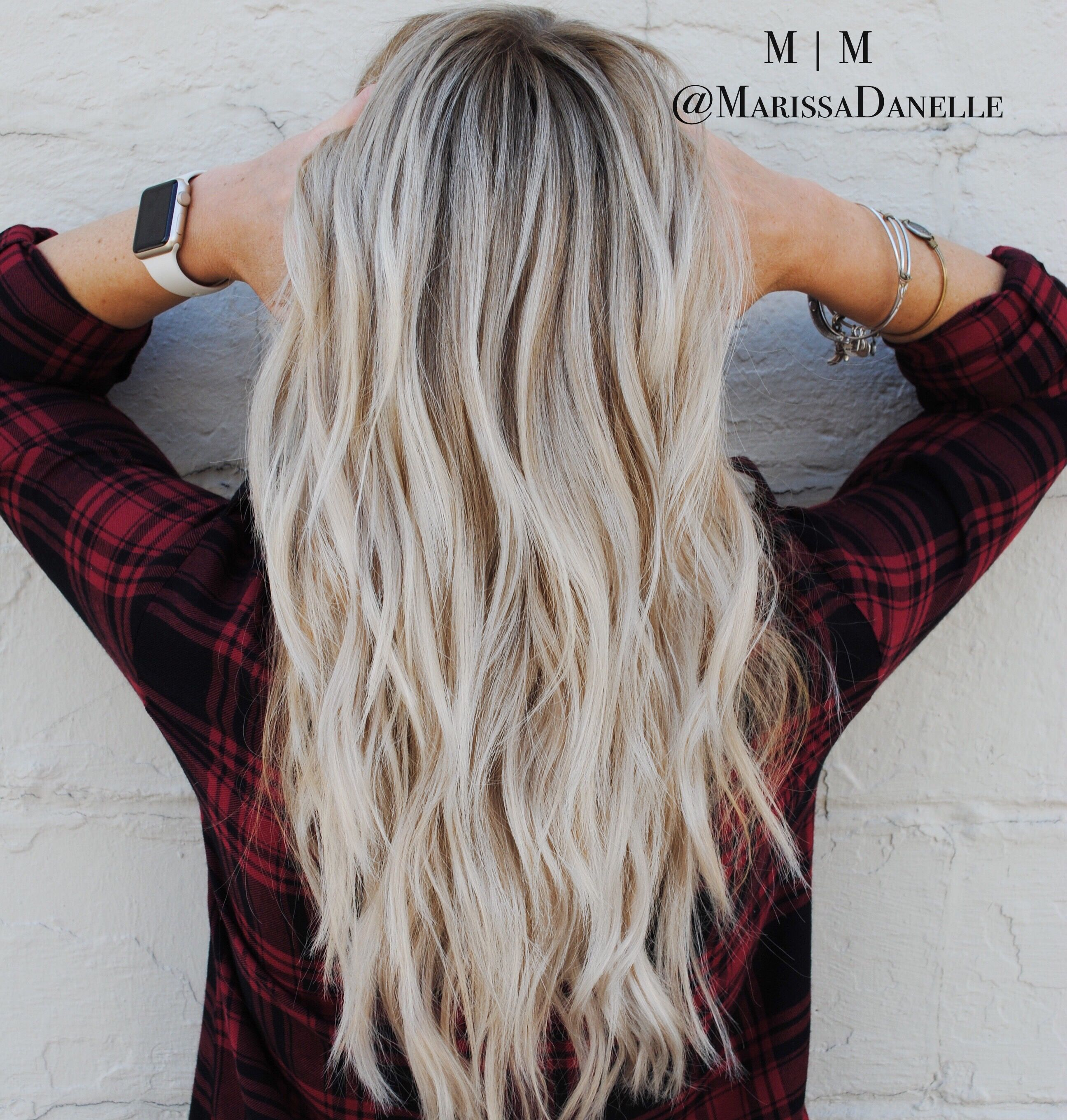 Light ash blonde hair