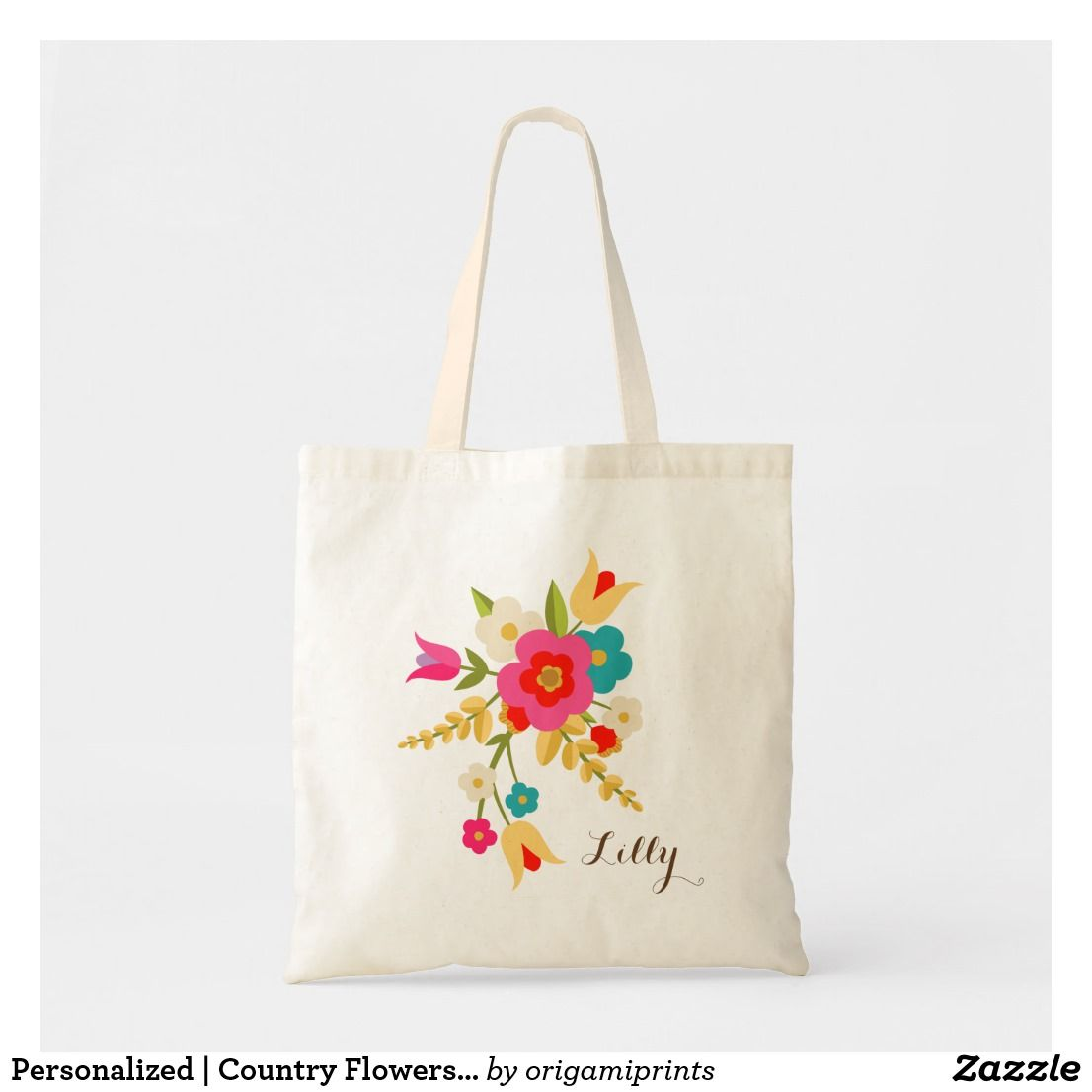 Personalized Country Flowers Easter Tote Zazzle Com Kids
