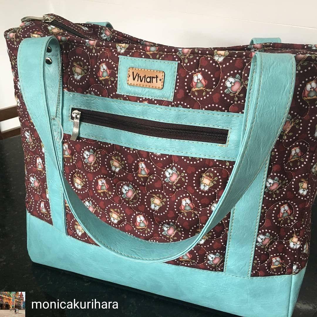 """Viviart on Instagram: """"Essa é a minha versão da «Tudor Bag» by Sew Swetness que fiz especialmente para uma pessoa muito «especial» pra mim. «Eu quero uma bolsa…"""" – Bolsa de moda"""
