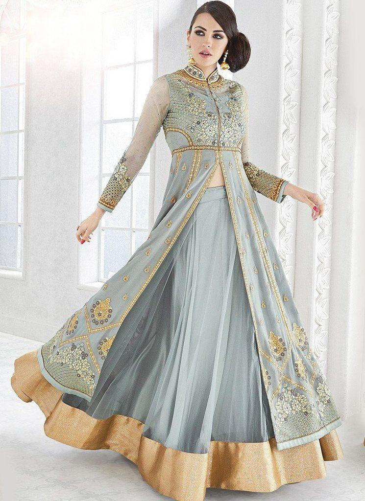 3f8c1846e0d Glossy Semi-Stitched Ladies Lehenga Suit - 7212