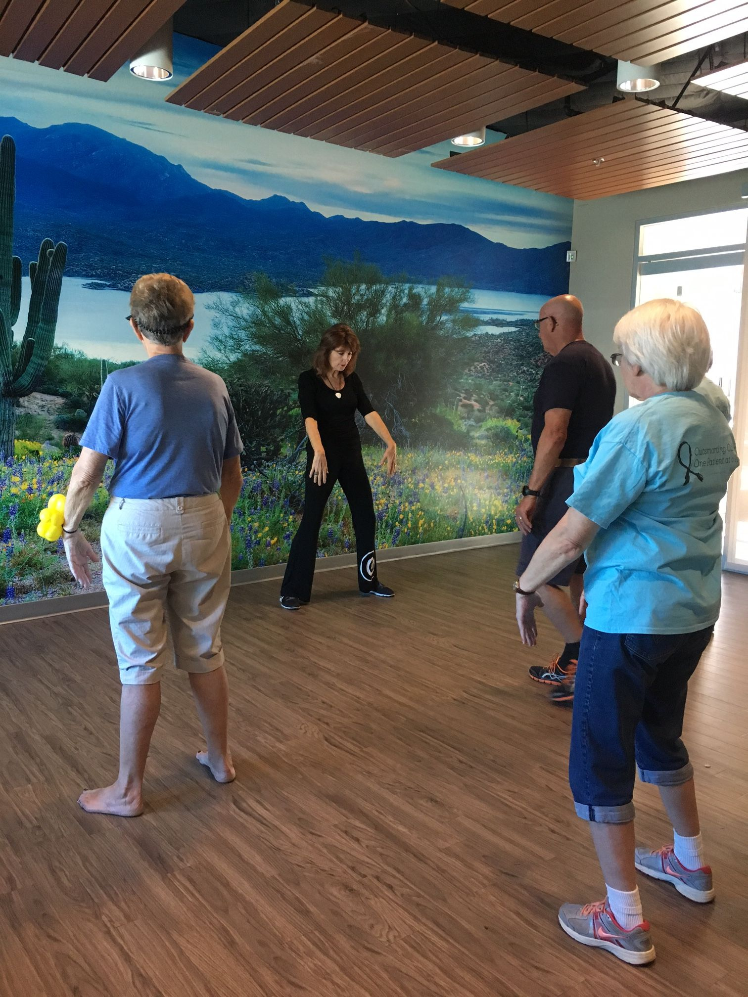 Tai chi at our scottsdale survivors breakfast 101516