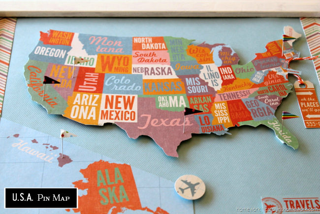 Crush Of The Week Think Pink Features Craft Map Crafts And - Make a us map