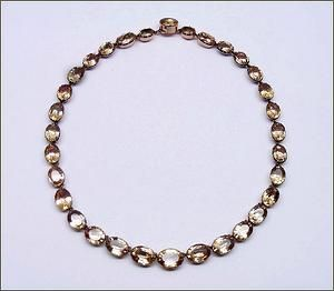 SJ Phillips 18th century topaz collet necklace