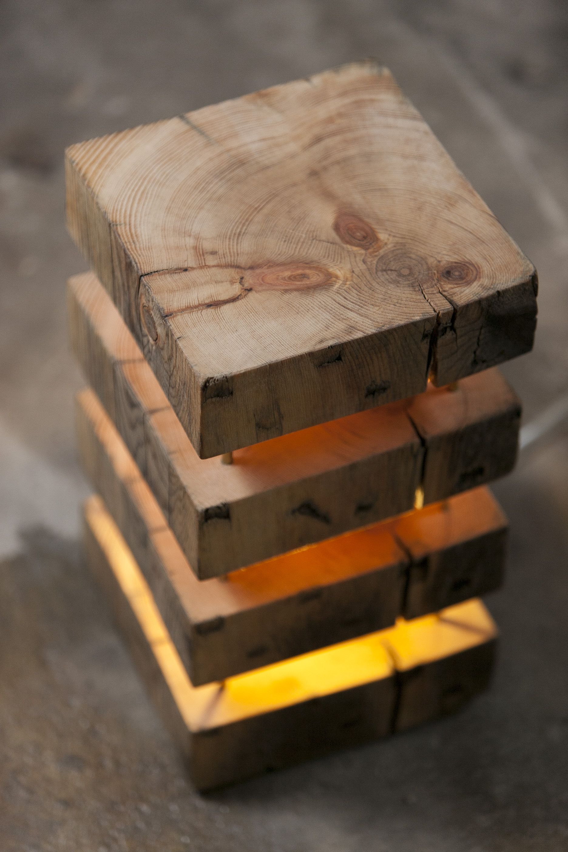 Perfect mood lamp made from old timber wooden lamps for Diy table lamp ideas