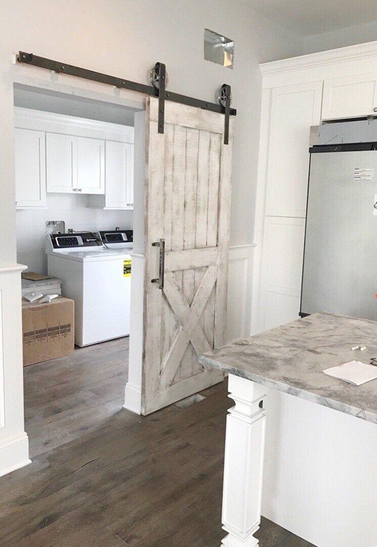 Photo of Custom Shabby Chic Bottom X Barn Door