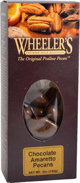 Wheeler's Chocolate Amaretto Pecans, 5 oz.