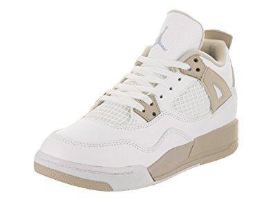 huge discount 53983 15472 Jordan Nike 4 Retro GP Blanco de Color Azul Luz Arena Baloncesto Zapatos 10