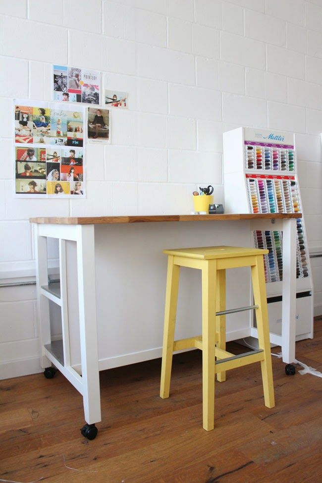 cutting table made from an ikea kitchen island stenstorp rh pinterest com