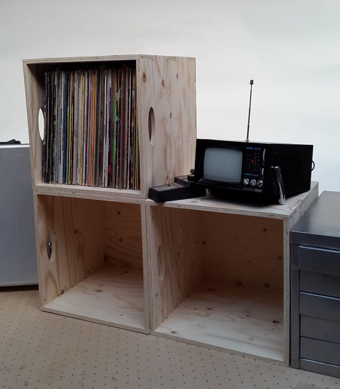 Vinyl LP/12  Record Storage Box - Stackable - Portable by CraftyandCoUK on Etsy & Vinyl LP/12