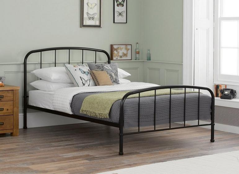 Westbrook Metal Bed Frame Black Bed Frame Iron Bed Frame White