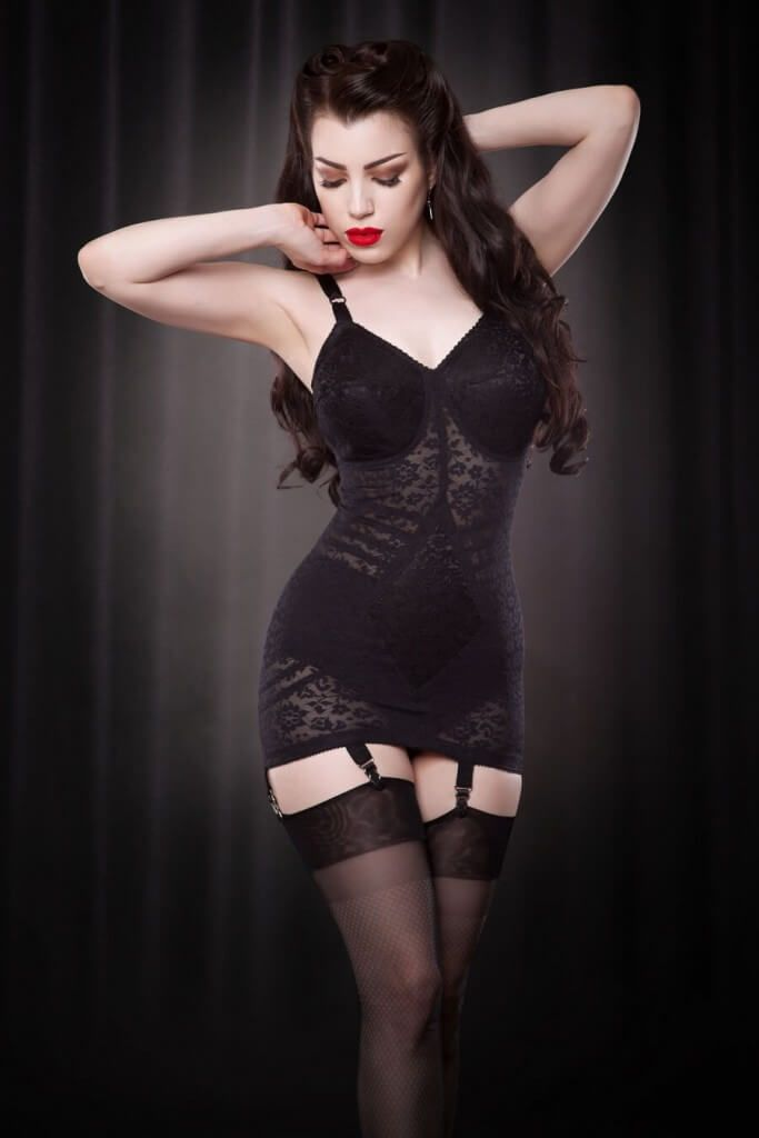 984d70f768b68 Rago Style 9357 Body Briefer (Corselette) via Hepburn   Leigh