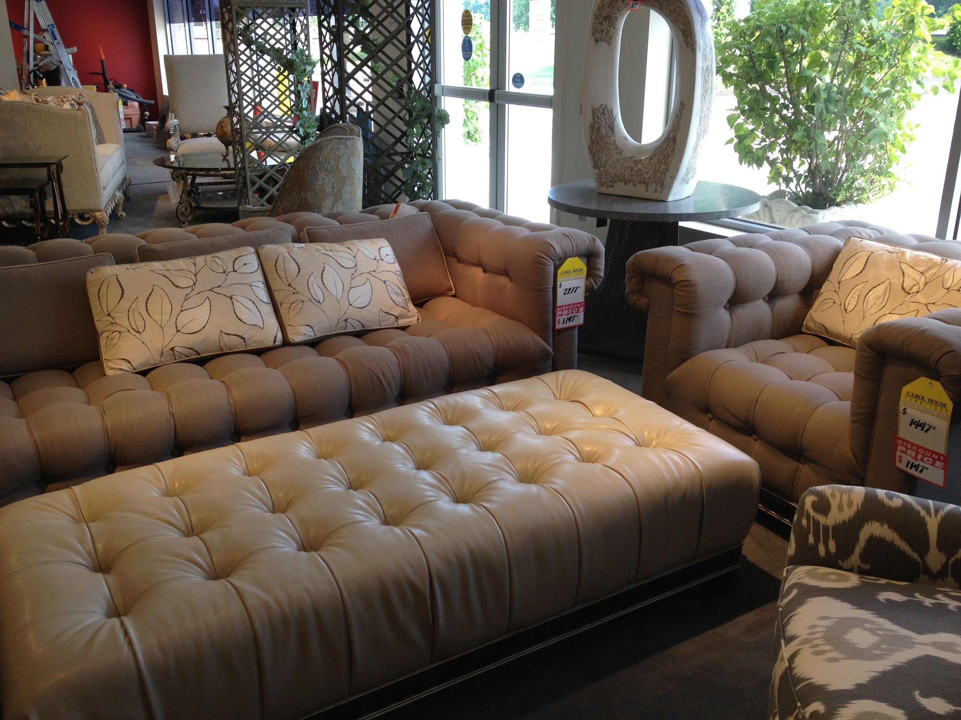 Tufted Lush Gray Sofa Chair Carol House Sofa Sofa Chair