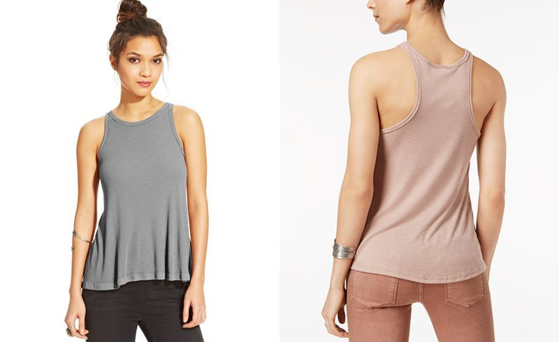 Free People Long Beach Ribbed Tank Top - Tops - Women - Macy's