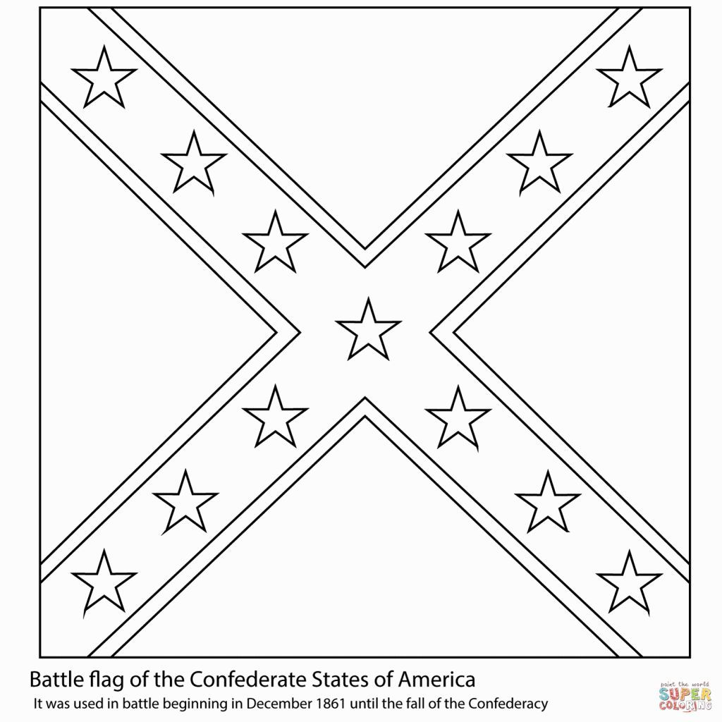Confederate Flag Coloring Page | Coloring Pages | Pinterest | Flags