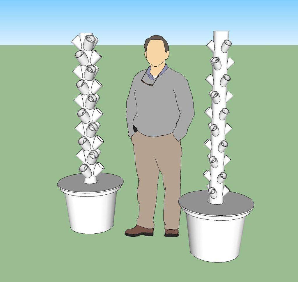 DIY Hydroponic towers | Hydroponics, Hydroponic gardening ...