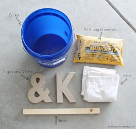 Learning Creating Living: Diy Concrete Letter & Ampersand
