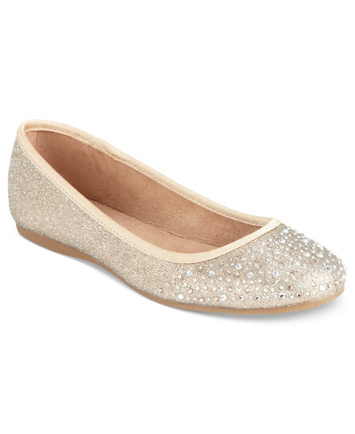 For a festive look, try on Style & Co.'s Angelynn flats. The rhinestone detail at the toe will make your day.