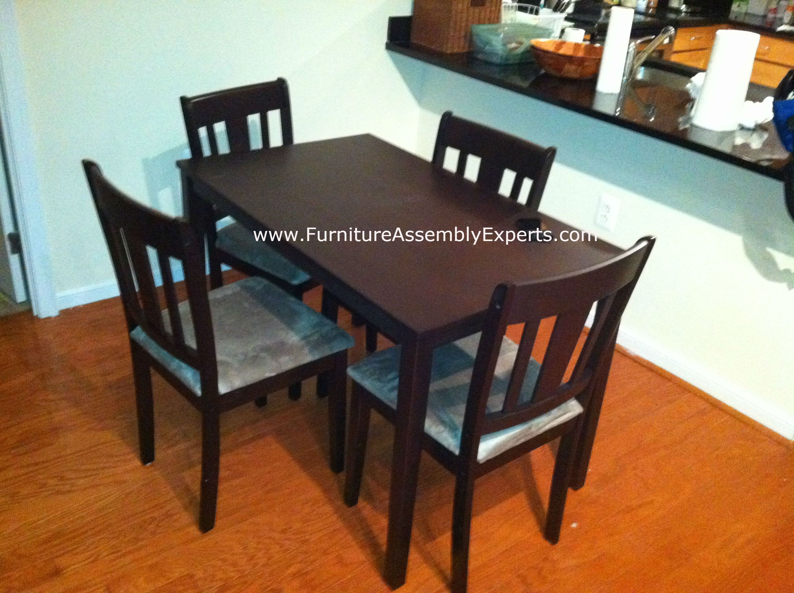 Wayfair Dining Table And Chairs Assembled In Glen Burnie MD By Furniture  Assembly Experts LLC