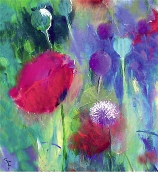 Colour Temperature With Soraya French Abstract Flower Painting