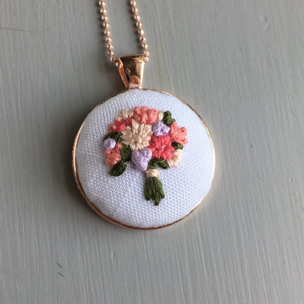 Floral embroidery necklace floral embroidery and embroidery