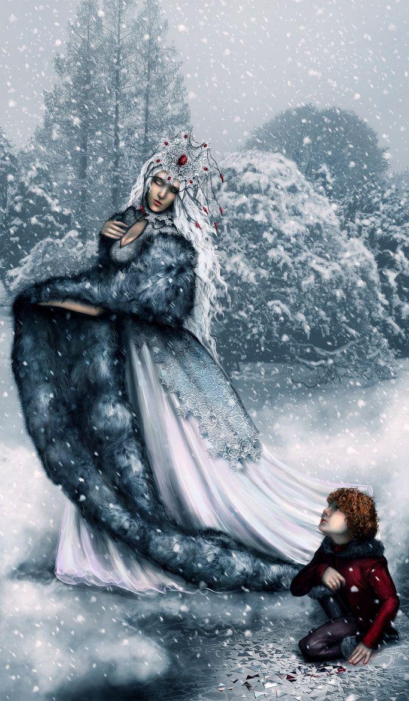the snow queen_The Snow Queen by =RomanticFae on deviantART   Snow queen, Snow, Fairytale art
