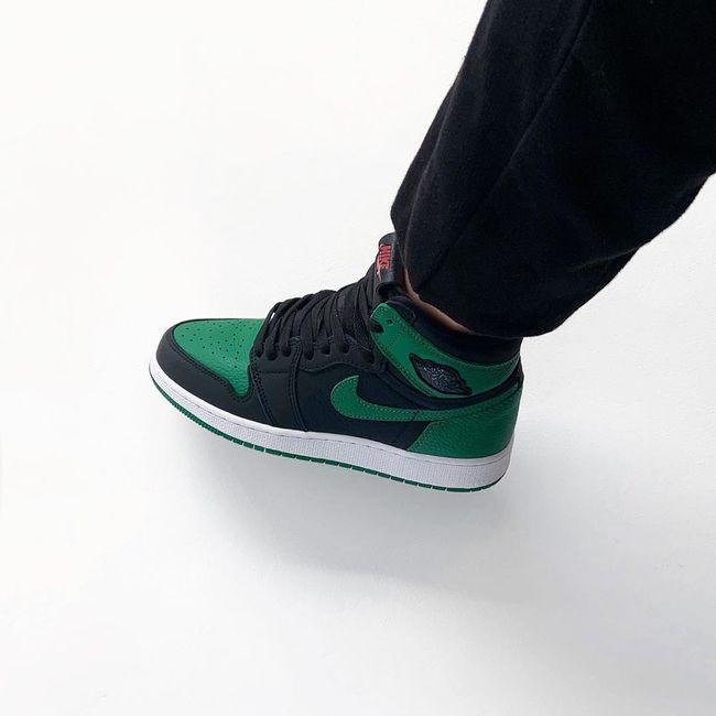 air jordan 1 noir et vert