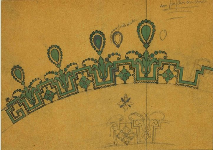 Etude pour un important diadéme Style Guirlande- Cartier – Masters of Designs ; copyright Sotheby's ; actualitès bijoux