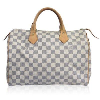 b81953e61ee Louis Vuitton Damier Azur Speedy 30 Handbag in Dust Bag | Louis ...