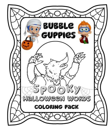 spooky words with the bubble guppies
