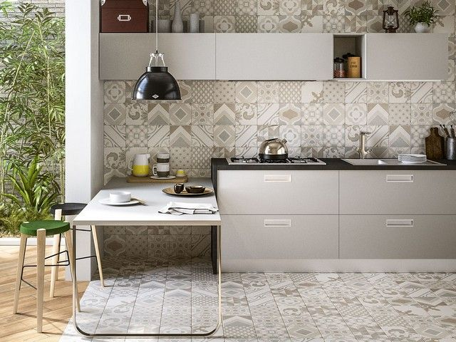 Gres porcellanato effetto cementina quilt iperceramica arredo idee pinterest quilt - Rivestimento cucina no piastrelle ...