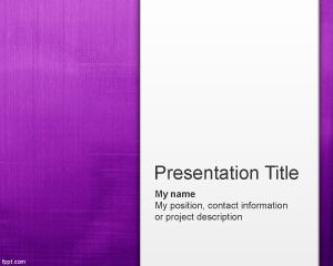 Abstract Powerpoint Template | Free Paint Violet Abstract Powerpoint Template Is A Violet Ppt