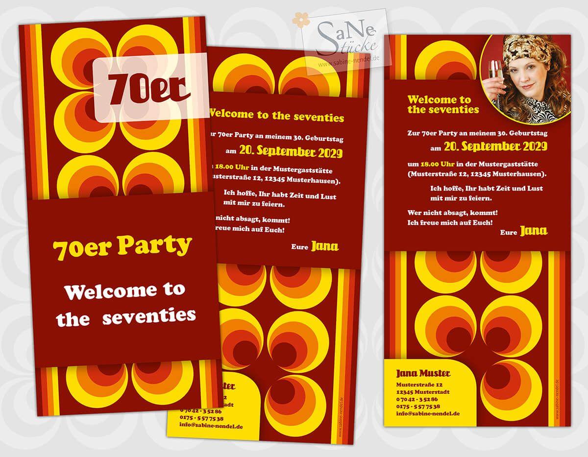 Einladung 70er Party Einladungskarten Geburtstag Einladung 50 Geburtstag 70er Jahre Party