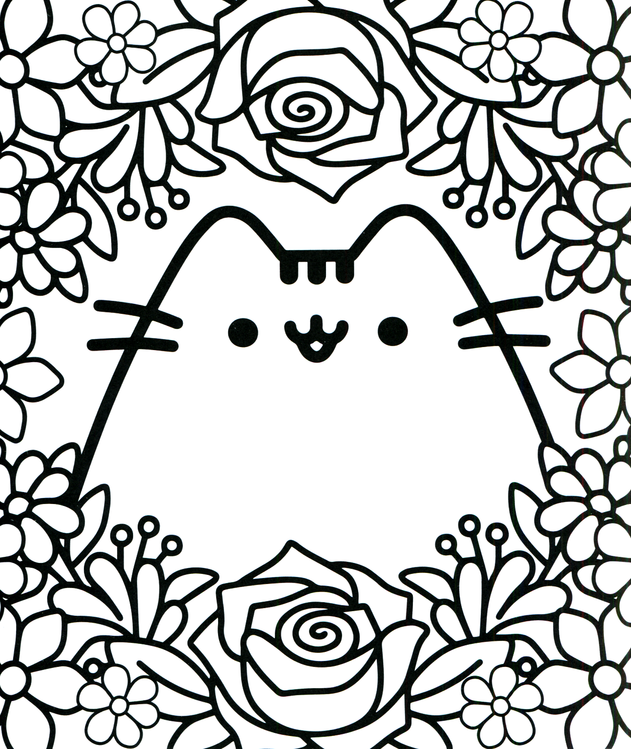 Pusheen Coloring Book Pusheen Pusheen The Cat Pusheen Coloring Pages Cute Coloring Pages Cartoon Coloring Pages