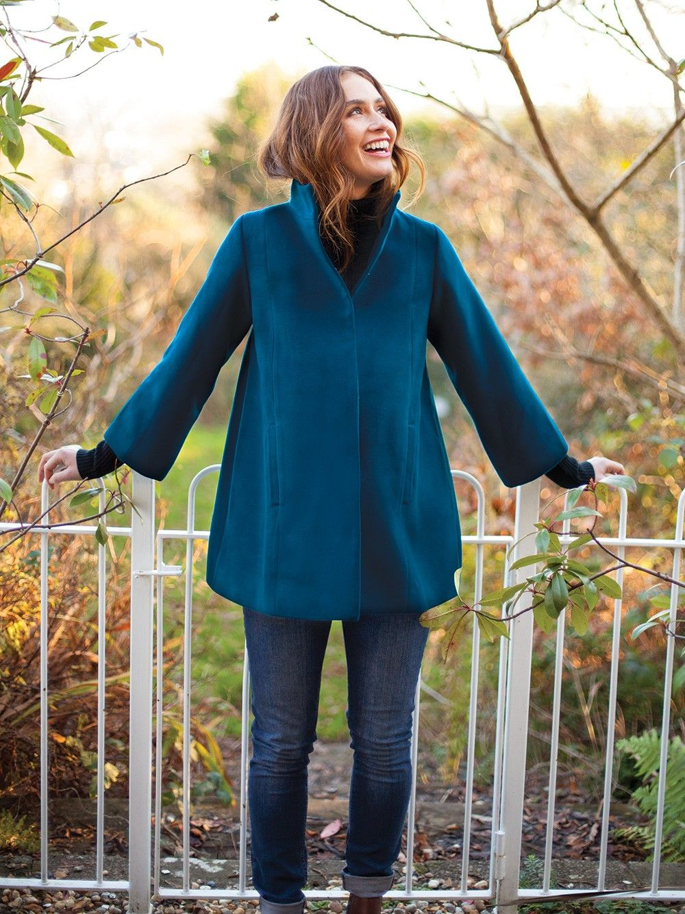 b41ea5563a8a8 Teal Maternity Swing Coat | JoJo Maman Bebe | Shopping - Fall ...
