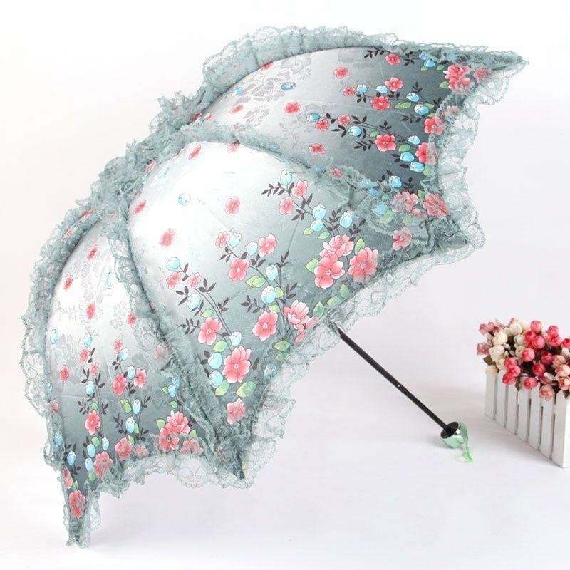details zu spitze jacquard gewebt sun regenschirm blumenmuster strand r schen anti rand uv. Black Bedroom Furniture Sets. Home Design Ideas