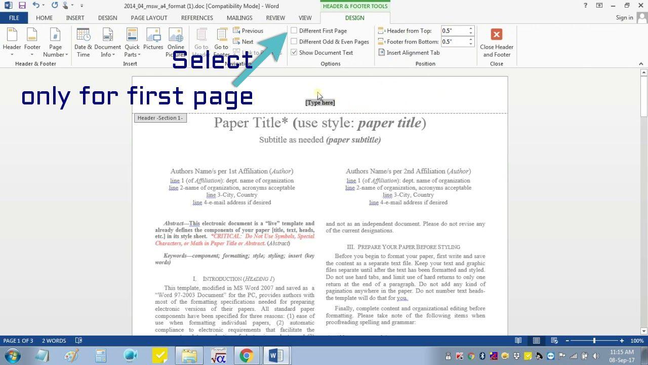 012 Ieee Research Paper Format Ms Word Museumlegs Intended For Ieee Template Word 2007 Best Sample Template Word 2007 Word Template Words