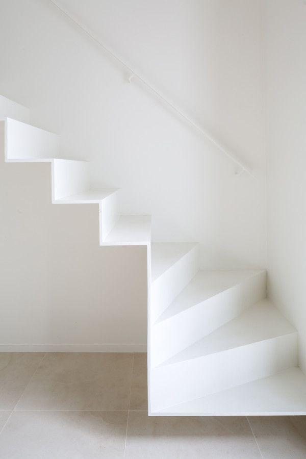 soft white stairs